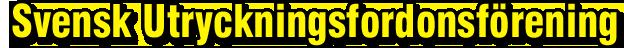 Svensk Utryckningsfordonsförening
