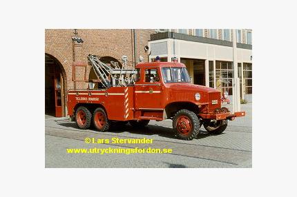 Kran-/räddningsbil GMC